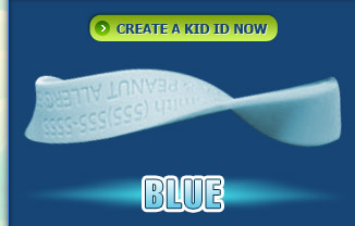 Kid ID Band Blue