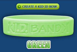 Kid ID Band Green
