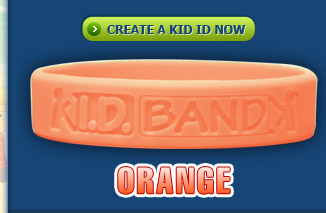 Kid ID Band Orange