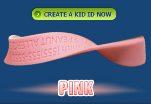 Kid ID Band Pink