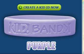 Kid ID Band Purple