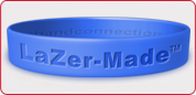 lazer made silicone wristbands