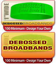 debossed wristband